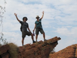 Ashley and Justin out on a rock limb . . .