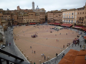 The Campo - Siena's center of energy, and a great meeting place!